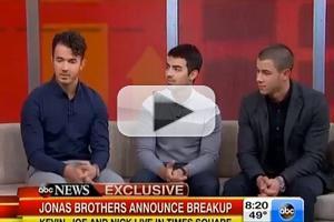 VIDEO: Jonas Brothers Talk Break Up on GOOD MORNING AMERICA