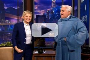 VIDEO: Ellen DeGeneres Offers Final Goodbye Gift to JAY LENO