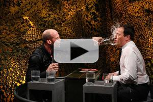 VIDEO: Jason Statham Faces Off in 'Water War' with JIMMY FALLON