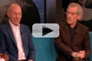 VIDEO: Patrick Stewart & Ian McKellan Chat New Broadway Plays on THE VIEW