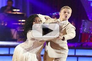 VIDEO: Amber Riley Dances in a 'Class of Her Own'; Advances to Finals on DWTS