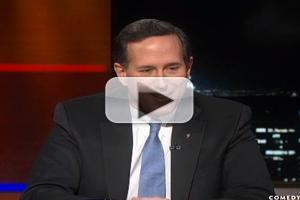VIDEO: Rick Santorum Chats New Movie 'The Christmas Candle' on COLBERT