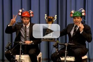 VIDEO: Liam Hemsworth Races JIMMY FALLON on High Speed Scooter