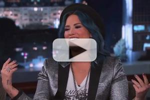 VIDEO: Demi Lovato Chats Working on Thanksgiving & More on KIMMEL