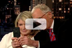 VIDEO: Martha Stewart & Dave Take Selfies on LETTERMAN