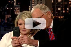 VIDEO: Martha Stewart & Dave Take Selfies on LETTERMAN