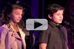 STAGE TUBE: Analise Scarpaci & Lewis Grosso Perform 'The Most Important Children's Song Ever' at ONCE UPON A TIME IN NEW YORK