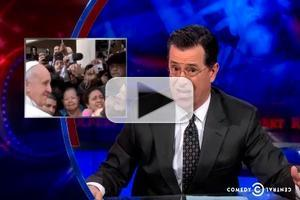 VIDEO: Stephen Talks The Pope's Secret Life on COLBERT