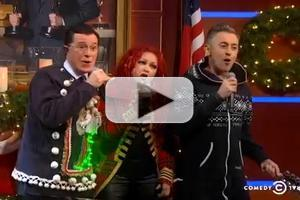 VIDEO: Alan Cumming, Cyndi Lauper Join Stephen Colbert for 'Let It Snow'!