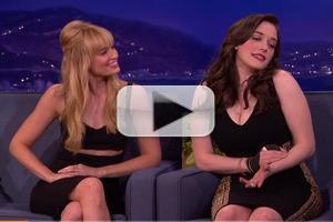 VIDEO: '2 Broke Girls' Beth Behrs & Kat Dennings Visit CONAN