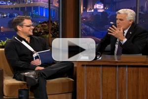 VIDEO: Matt Damon Talks Mountain Biking Accident on LENO