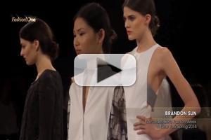 VIDEO: Brandon Sun Mercedes Benz Fashion Week