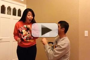 VIDEO: FROZEN Karaoke to 'Love Is an Open Door' Turns Into Marriage Proposal!
