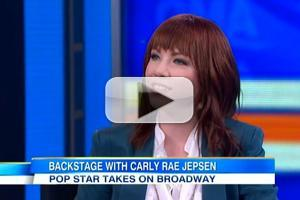 STAGE TUBE: Carly Rae Jepsen Gives Backstage Tour at CINDERELLA on GMA