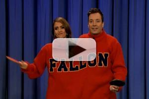 VIDEO: Jessica Alba Plays Double Turtleneck Ping Pong on JIMMY FALLON