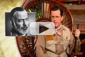 VIDEO: cOlbert's Book Club Kicks Off with Hemingway's 'Farewell to Arms'