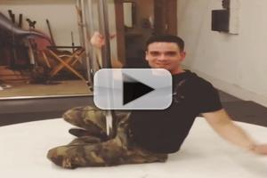 VIDEO: Watch Mark Salling Pole Dance on Set of GLEE's 100th Episode