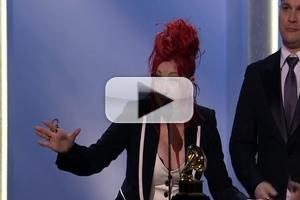 VIDEO: Watch Cyndi Lauper Accept KINKY BOOTS' 2014 GRAMMY Award for Best Musical Theater Album!