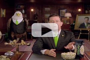 VIDEO: Stephen Colbert Stars in Wonderful Pistachios Super Bowl Spot