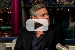 VIDEO: George Clooney Talks MONUMENTS MEN & More on 'Letterman'