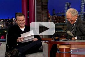 VIDEO: Matt Damon Shares George Clooney Prank on LETTERMAN