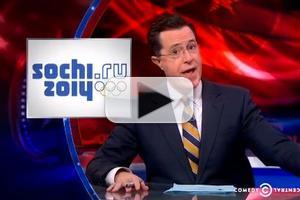VIDEO: Stephen Talks Sochi Olympics Cry-athlon on COLBERT
