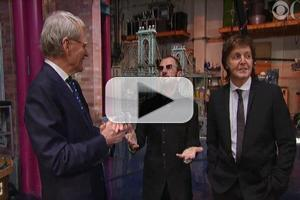 VIDEO: Sneak Peek - David Letterman Interviews McCartney & Starr on CBS's GRAMMY SALUTE TO THE BEATLES