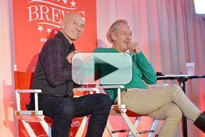 VIDEO: Ian McKellen and Patrick Stewart Talk Broadway, Online Antics