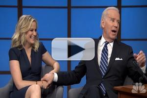 VIDEO: Amy Poehler, VP Joe Biden Guest on SETH MEYERS Premiere