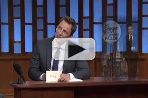 VIDEO: SETH MEYERS Opens Show with Nod to Jimmy Fallon