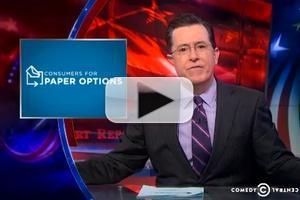VIDEO: Stephen Talks Paperless Technology on COLBERT