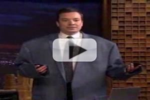 VIDEO: Jimmy Fallon Tries on Shaq's Enormous Jacket on TONIGHT