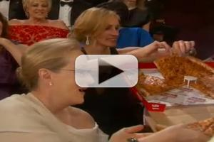 VIDEO: Ellen Passes Out Pizza at the Oscars