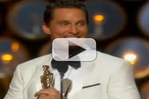 VIDEO: Matthew McConaughey Wins Best Actor Oscar for DALLAS BUYERS CLUB
