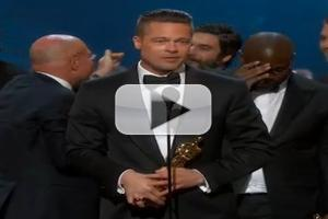 VIDEO: Pitt and McQueen Accept Best Picture Oscar for 12 YEARS A SLAVE