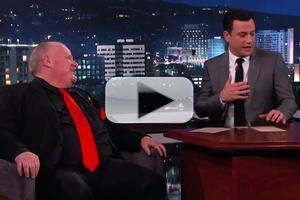 VIDEO: Beleaguered Toronto Mayor Rob Ford Visits JIMMY KIMMEL LIVE