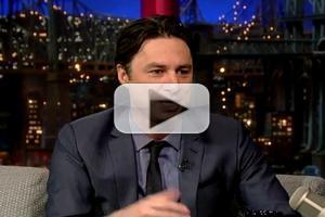 VIDEO: Zach Braff Chats BULLETS OVER BROADWAY on Letterman