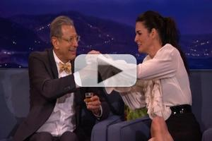 VIDEO: Angie Harmon Does Tequila Shots With Jeff Goldblum and Conan O'Brien