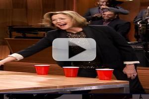VIDEO: Annette Bening Plays Flip Cup on JIMMY FALLON