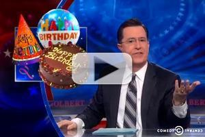 VIDEO: Stephen Celebrates Birthday of 'Happy Birthday' on COLBERT