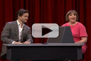VIDEO: Lena Dunham & Hugh Dancy Play 'Pyramid' on FALLON