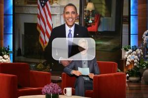 VIDEO: Watch President Obama Call ELLEN's Oscar Selfie a 'Pretty Cheap Stunt'