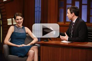 VIDEO: Shailene Woodley Shares Advice from Jennifer Lawrence on SETH MEYERS