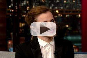 VIDEO: Emma Watson Shares Clip from New film 'Noah' on LETTERMAN