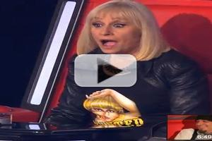 VIDEO: Why Is This VOICE ITALY Judge So Shocked as She Turns Her Chair Around?!