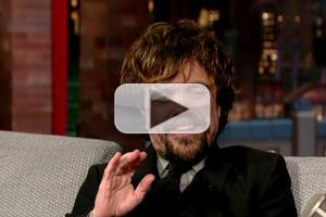 VIDEO: 'Game of Thrones' Peter Dinklage Reveals Not-So-Heroic TV Moment on LETTERMAN