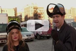 VIDEO: Lindsay Lohan & Billy Eichner Destroy Cars on All-New BILLY ON THE STREET