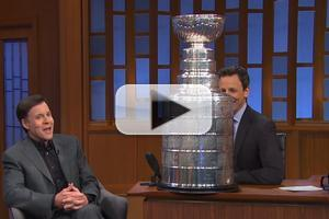 VIDEO: Bob Costas Gifts SETH MEYERS with The Stanley Cup