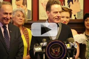 BWW TV: Bryan Cranston & More Stand Up for Senator Schumer's Broadway Tax Bill!