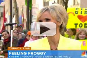 VIDEO: Kristin Chenoweth Chats Voicing Opera-Singing Frog in RIO 2